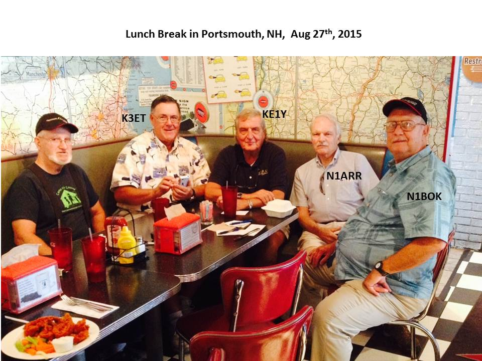Lunch with some net members August 27, 2015 in Portsmouth NH